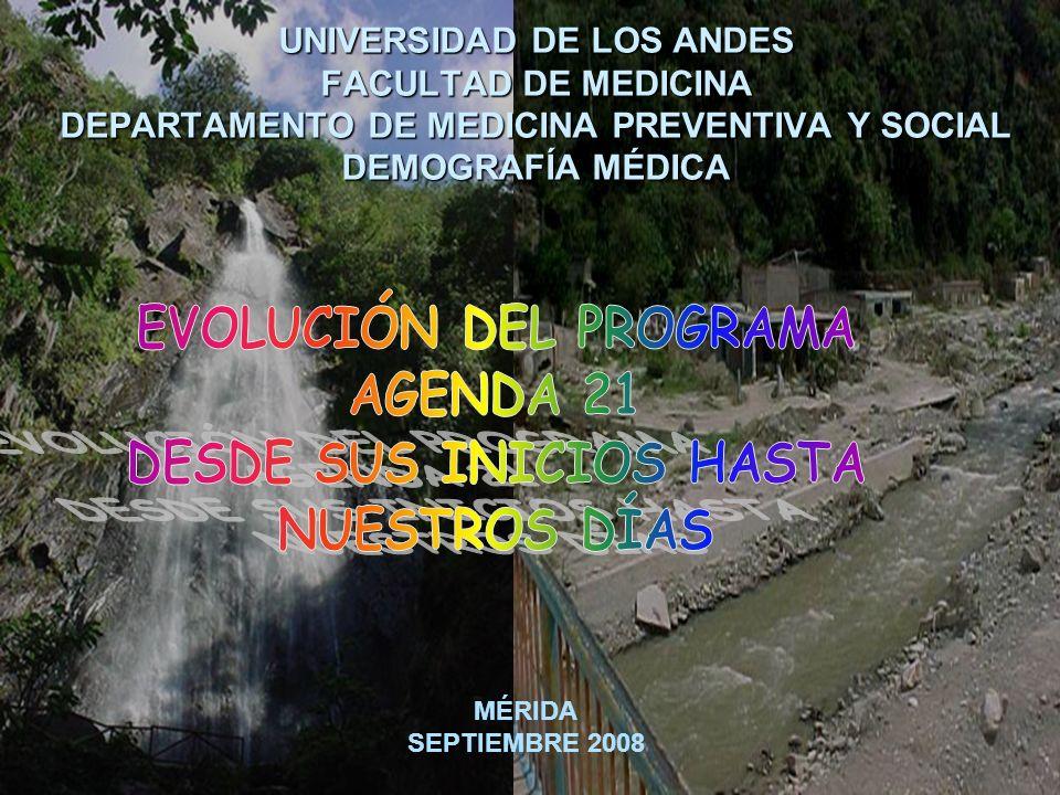 UNIVERSIDAD DE LOS ANDES FACULTAD DE MEDICINA DEPARTAMENTO DE MEDICINA PREVENTIVA Y SOCIAL DEMOGRAFÍA MÉDICA MÉRIDA SEPTIEMBRE 2008