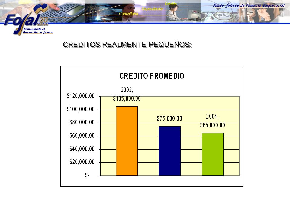 EMPRESA INDUSTRIA COMERCIO SERVICIOS MICRO PEQUEÑA 100% 95% 5% 16% 68% 16% 13% 67% 15% 3% 1% Consultoría Crédito Capacitación