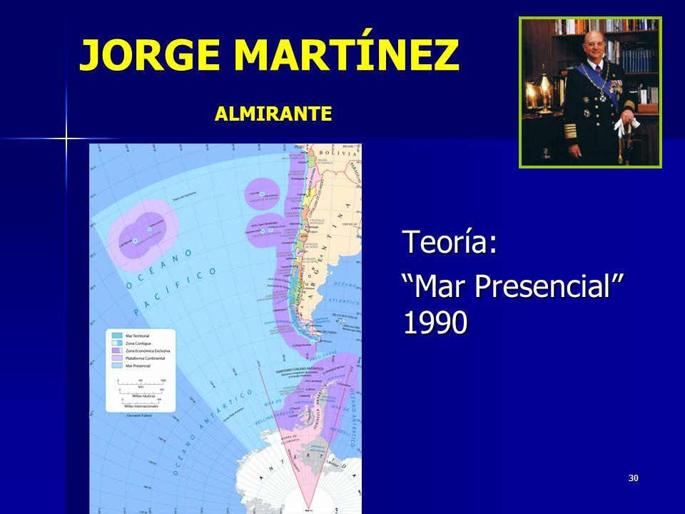 30 JORGE MARTÍNEZ ALMIRANTE Teoría: Mar Presencial 1990
