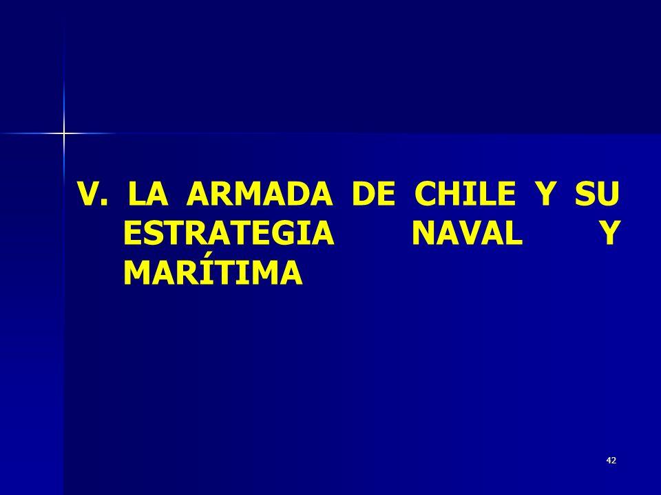 42 V. LA ARMADA DE CHILE Y SU ESTRATEGIA NAVAL Y MARÍTIMA