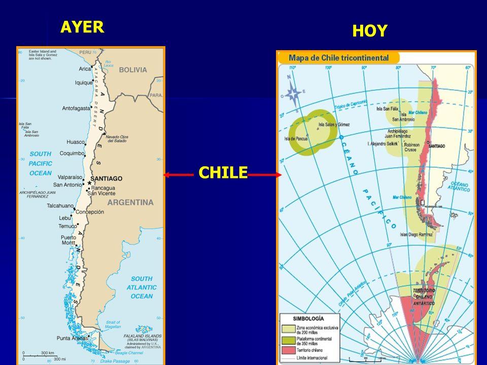 7 UBICACIÓN GEOGRÁFICA DE CHILE CHILE CONTINENTAL: Situado Hemisferio sur oriental: 17º - 56º L.