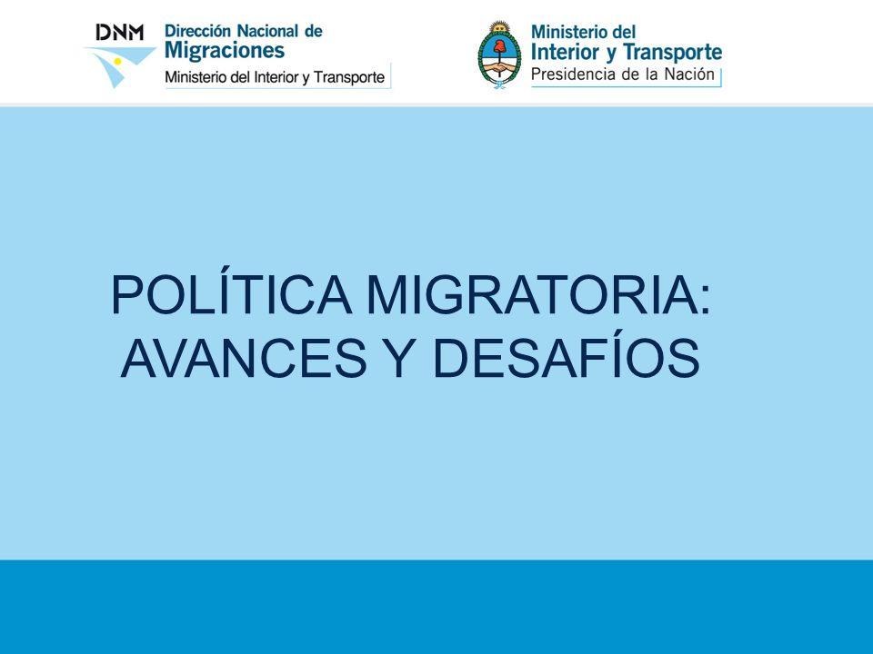LA FORMULACIÓN DE LA POLÍTICA MIGRATORIA ARGENTINA La definición de políticas públicas jamás es inocente.