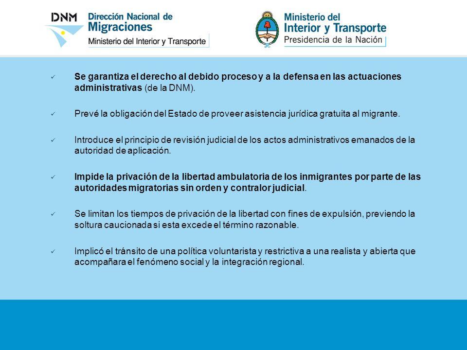 Se garantiza el derecho al debido proceso y a la defensa en las actuaciones administrativas (de la DNM). Prevé la obligación del Estado de proveer asi