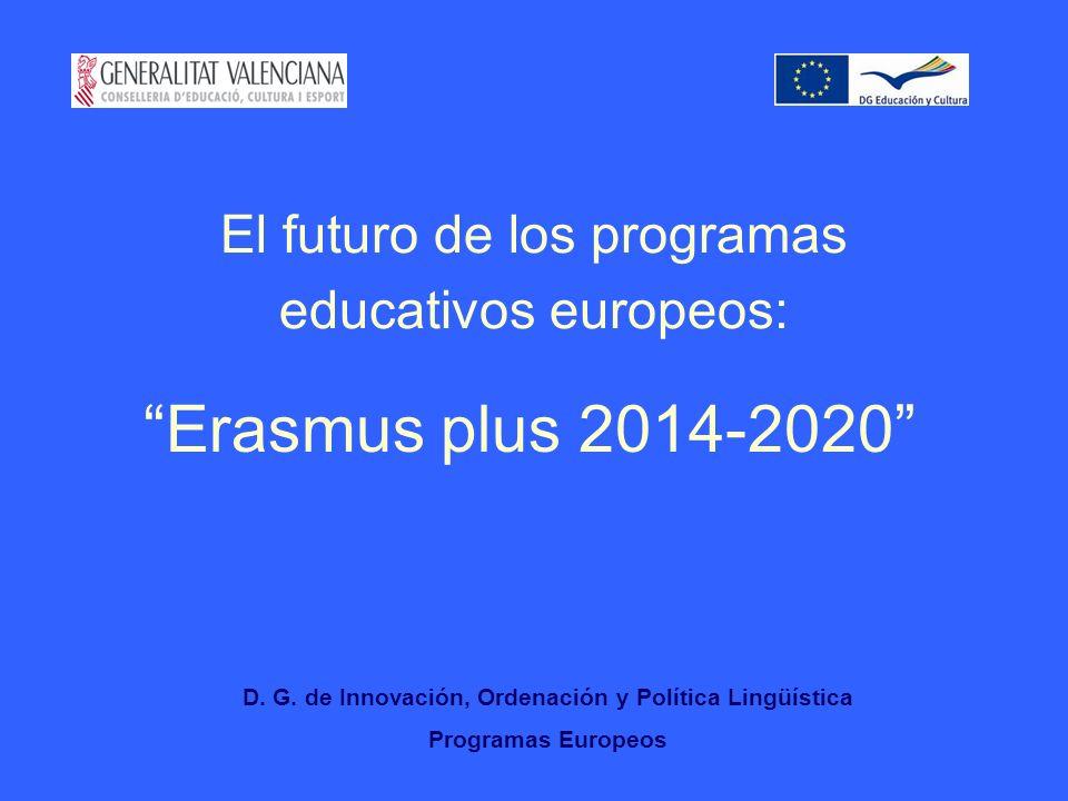 El futuro de los programas educativos europeos: Erasmus plus 2014-2020 D.