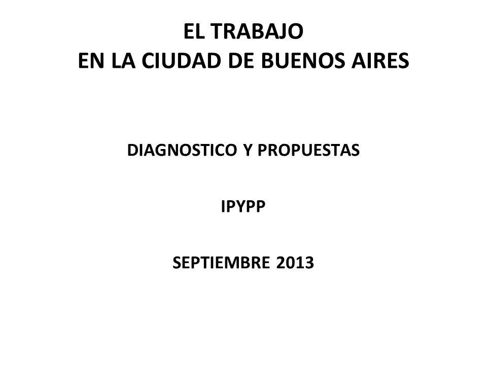 EL TRABAJO EN LA CIUDAD DE BUENOS AIRES DIAGNOSTICO Y PROPUESTAS IPYPP SEPTIEMBRE 2013
