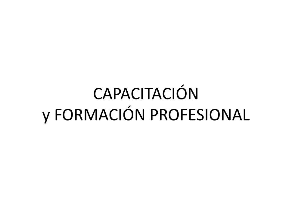 CAPACITACIÓN y FORMACIÓN PROFESIONAL