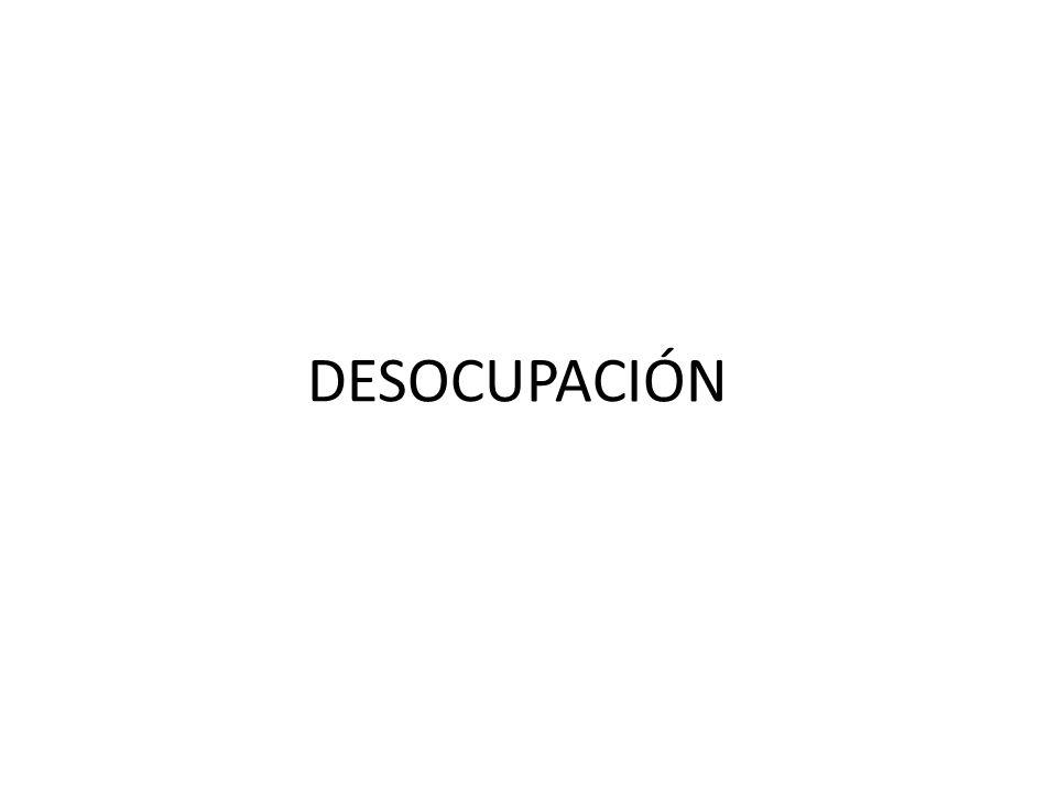 DESOCUPACIÓN