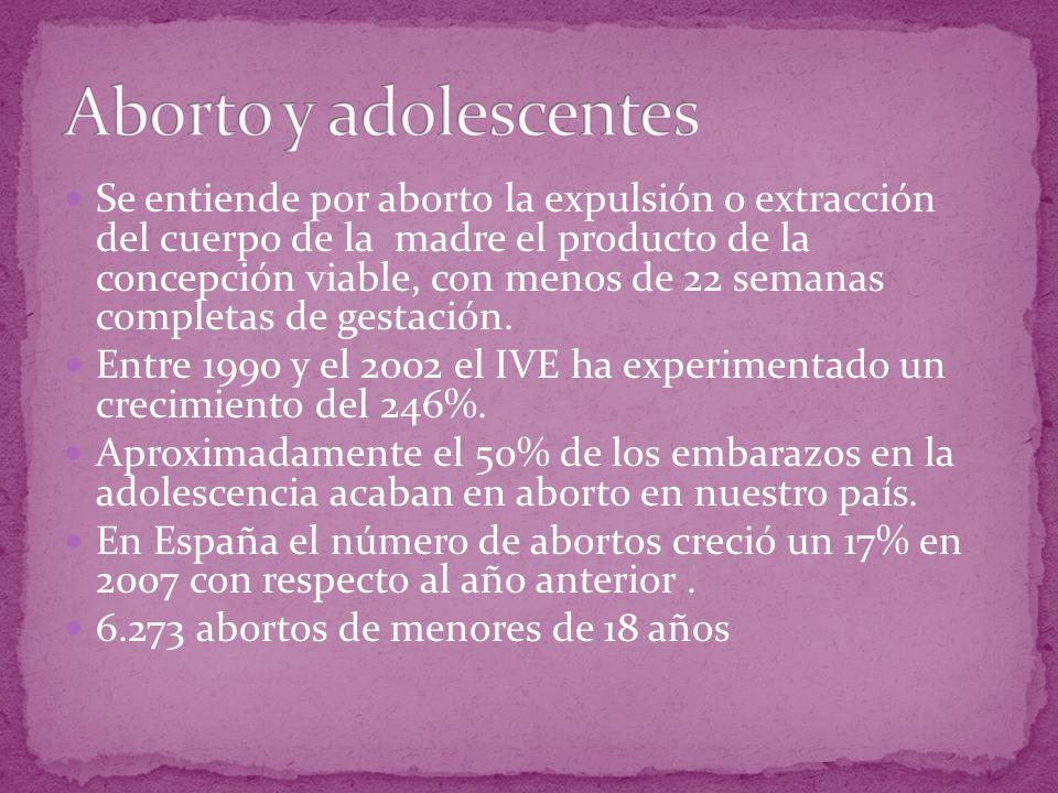 Se entiende por aborto la expulsión o extracción del cuerpo de la madre el producto de la concepción viable, con menos de 22 semanas completas de gest