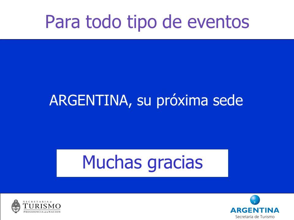 Para todo tipo de eventos ARGENTINA, su próxima sede Muchas gracias