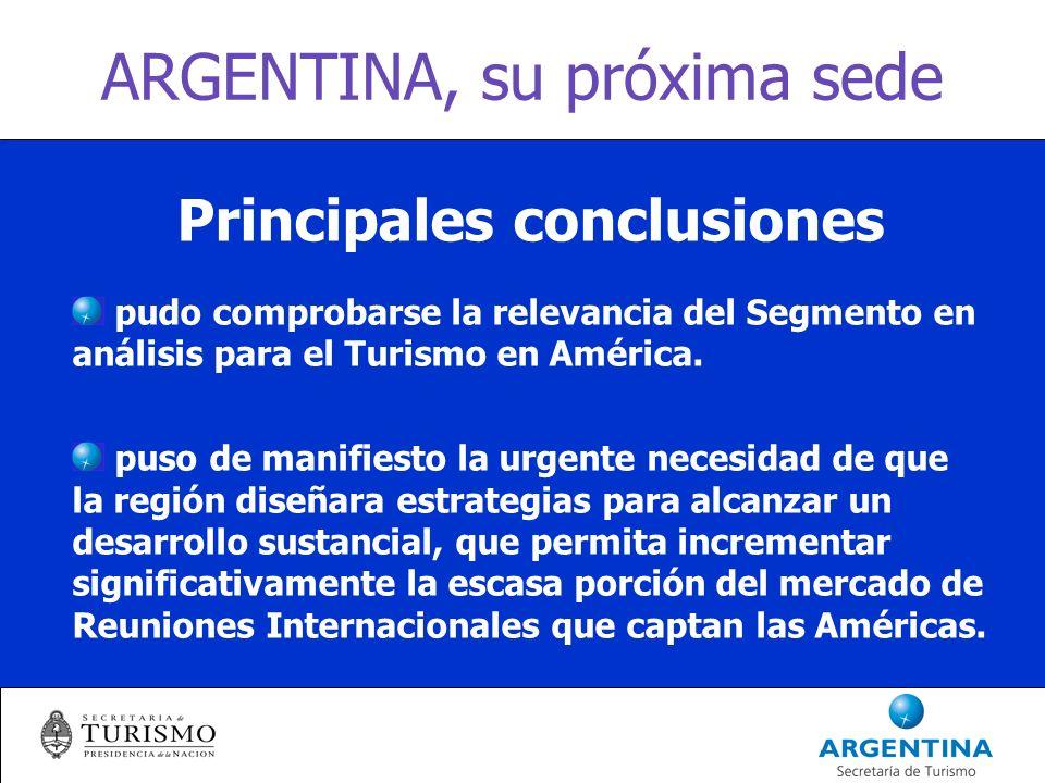 ARGENTINA, su próxima sede Resumen: 4 CONCLUSIONES 4.