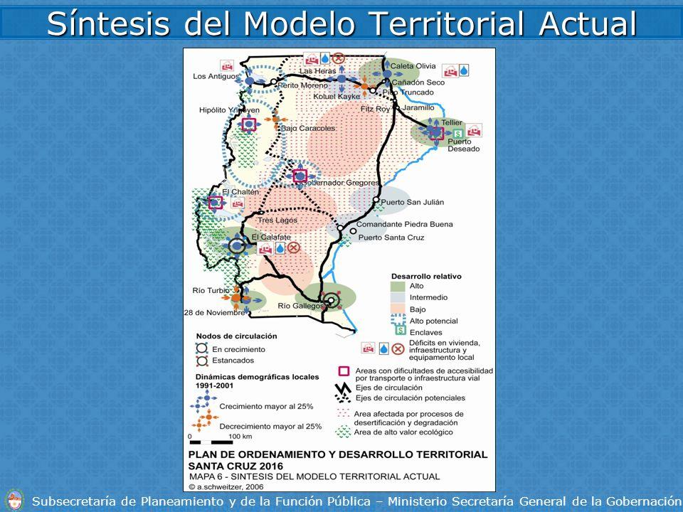 Síntesis del Modelo Territorial Actual