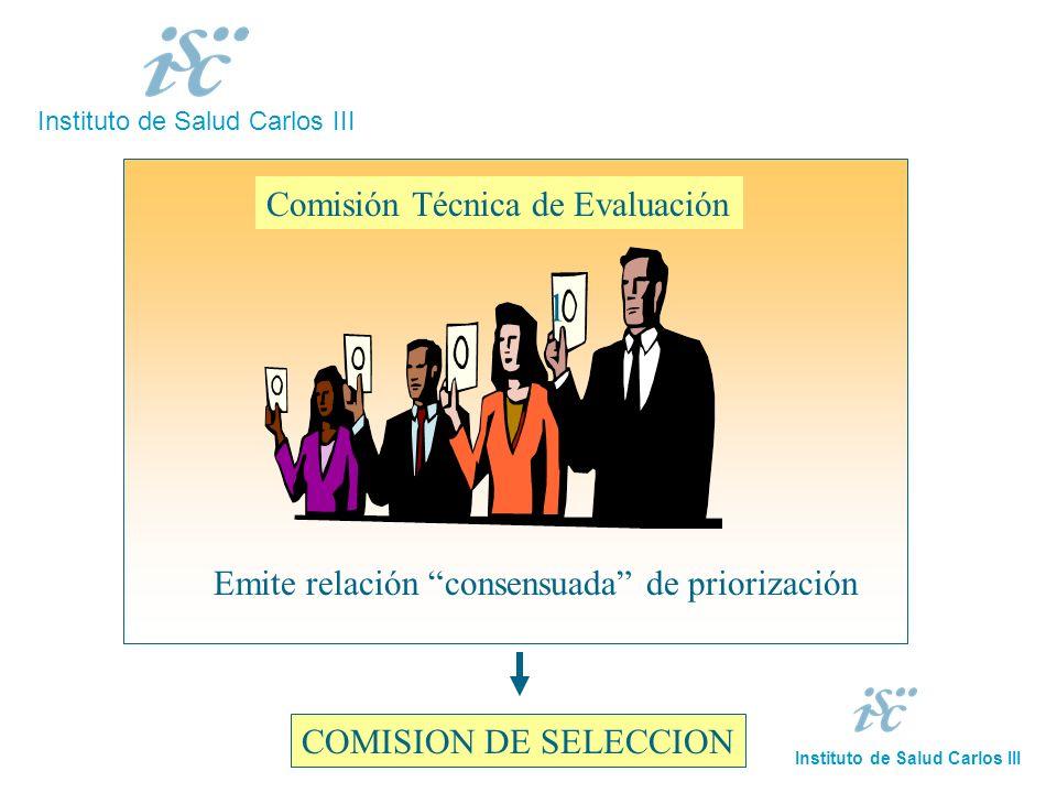 11 Comisión Técnica de Evaluación Emite relación consensuada de priorización COMISION DE SELECCION Instituto de Salud Carlos III 1