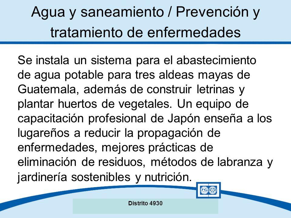 Se instala un sistema para el abastecimiento de agua potable para tres aldeas mayas de Guatemala, además de construir letrinas y plantar huertos de vegetales.