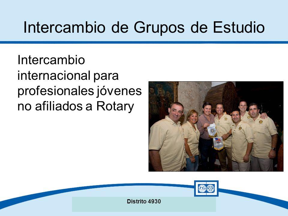 Seminario de La Fundación Rotaria del Distrito XXXX Intercambio de Grupos de Estudio Intercambio internacional para profesionales jóvenes no afiliados a Rotary Distrito 4930