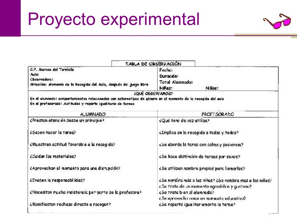 Proyecto experimental