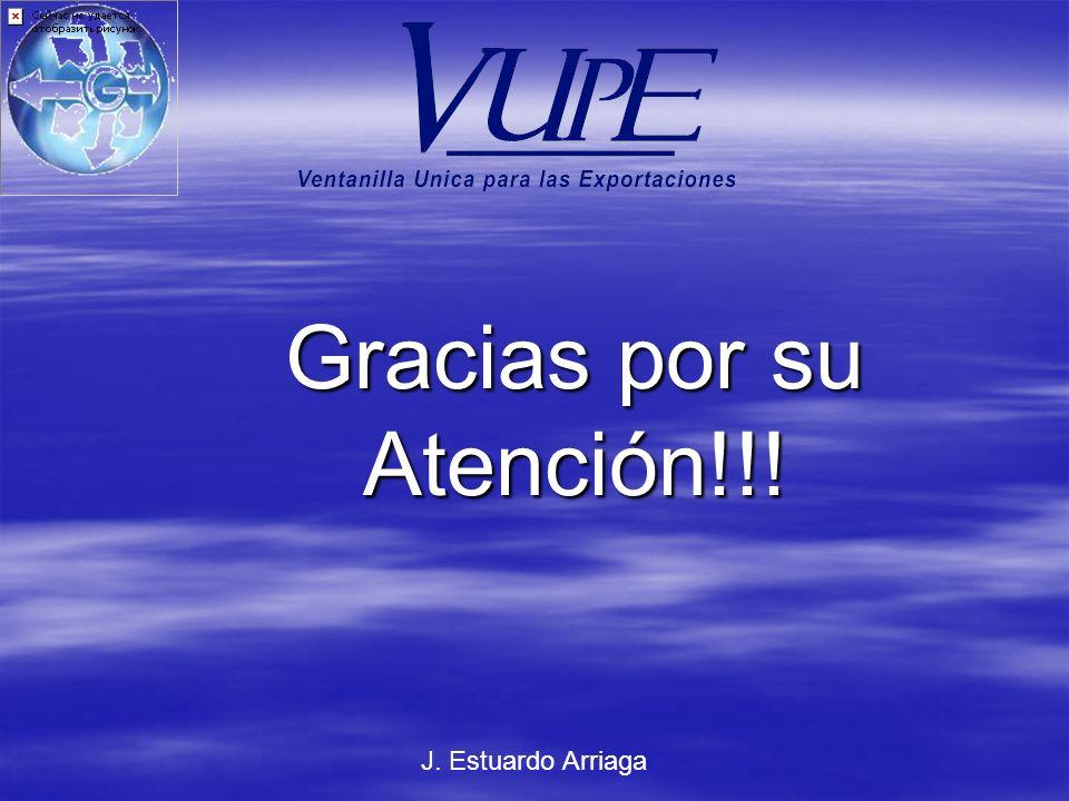 Gracias por su Atención!!! J. Estuardo Arriaga