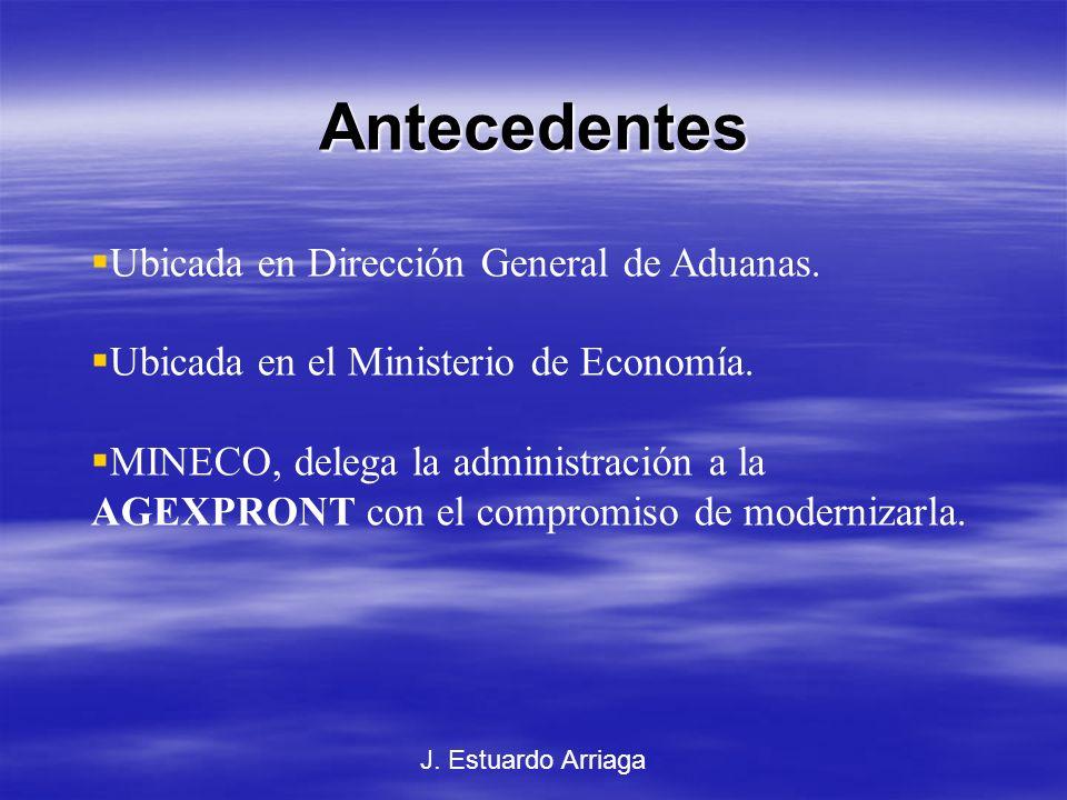 575-98 SEADEX Con el concepto de modernización del gobierno, MINECO le delega la función de la Ventanilla a la AGEXPRONT.