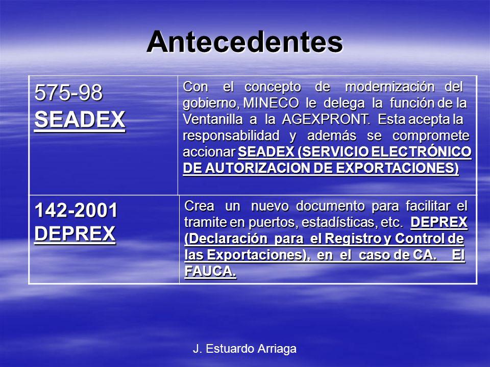 Enfoque Conceptual del Proyecto Modernizar y automatizar las actividades de autorización de exportaciones, estadísticas y fomento de exportación vía Internet.