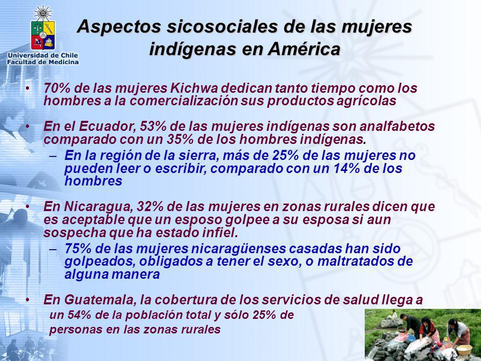 Las mujeres indígenas en América tienen: A) Tasas de morbilidad más altas que los hombres indígenas, principalmente debido a su función reproductiva B) Tasas de morblidad y mortalidad más altas que las mujeres no-indígenas, prinicpalmente debido a la distribución inequitativa de los recursos económicos y sociales Análisis de Género
