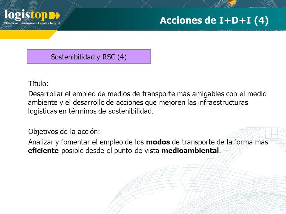 Acciones de I+D+I (4) Título: Desarrollar el empleo de medios de transporte más amigables con el medio ambiente y el desarrollo de acciones que mejore