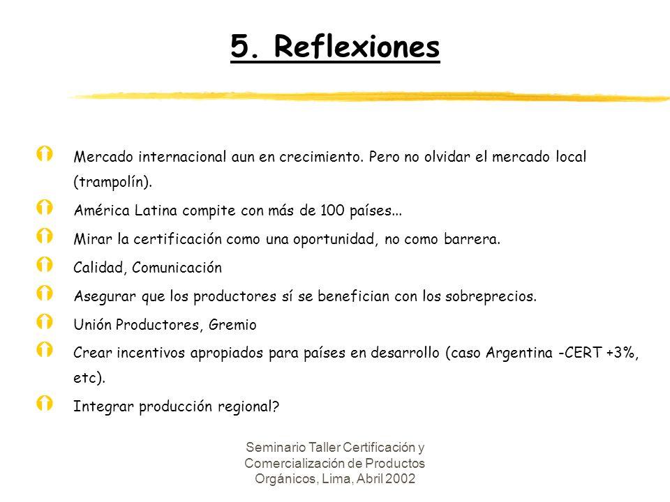 5.Reflexiones Ý Mercado internacional aun en crecimiento.