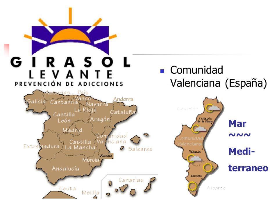 Comunidad Valenciana (España) Mar ~~~ Medi- terraneo