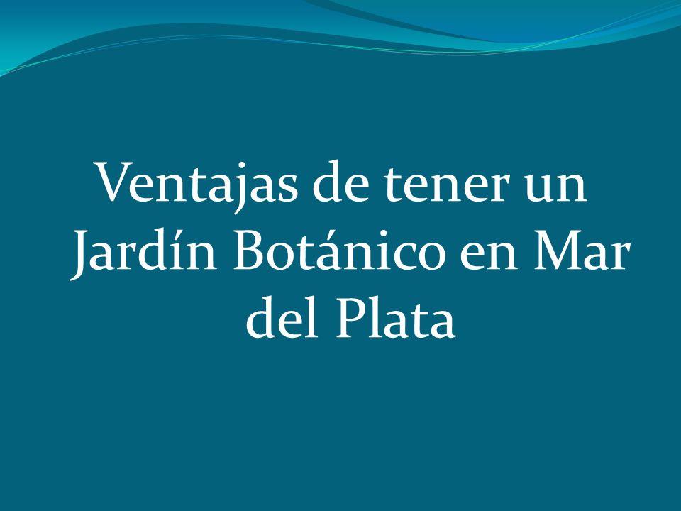 Ventajas de tener un Jardín Botánico en Mar del Plata