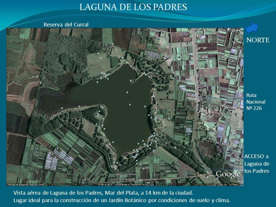 Vista aérea de Laguna de los Padres, Mar del Plata, a 14 km de la ciudad. Lugar ideal para la construcción de un Jardín Botánico por condiciones de su