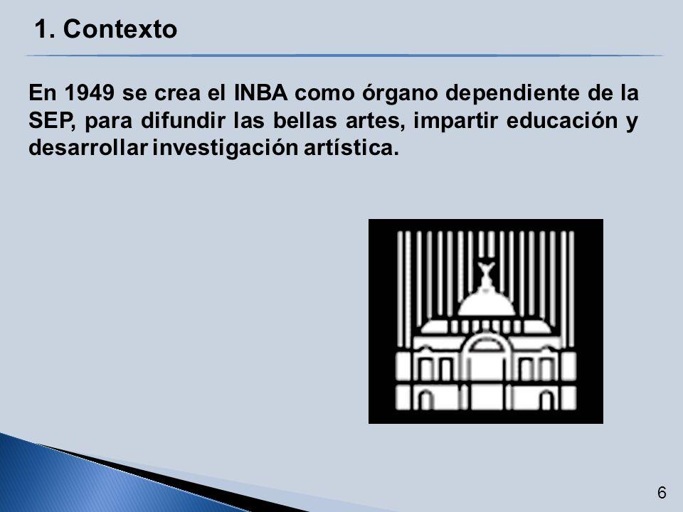 2.Política Pública Áreas Sustantivas 5. Difusión de las Bellas Artes 2.