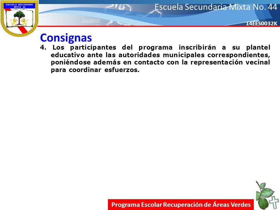 Escuela Secundaria Mixta No.44 14EES0032K Consignas 4.