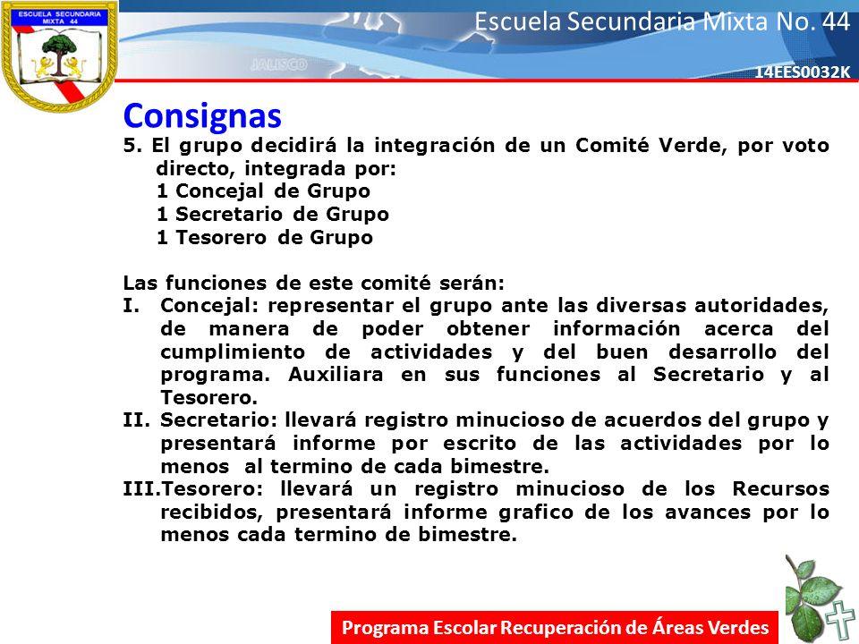 Escuela Secundaria Mixta No.44 14EES0032K Consignas 5.