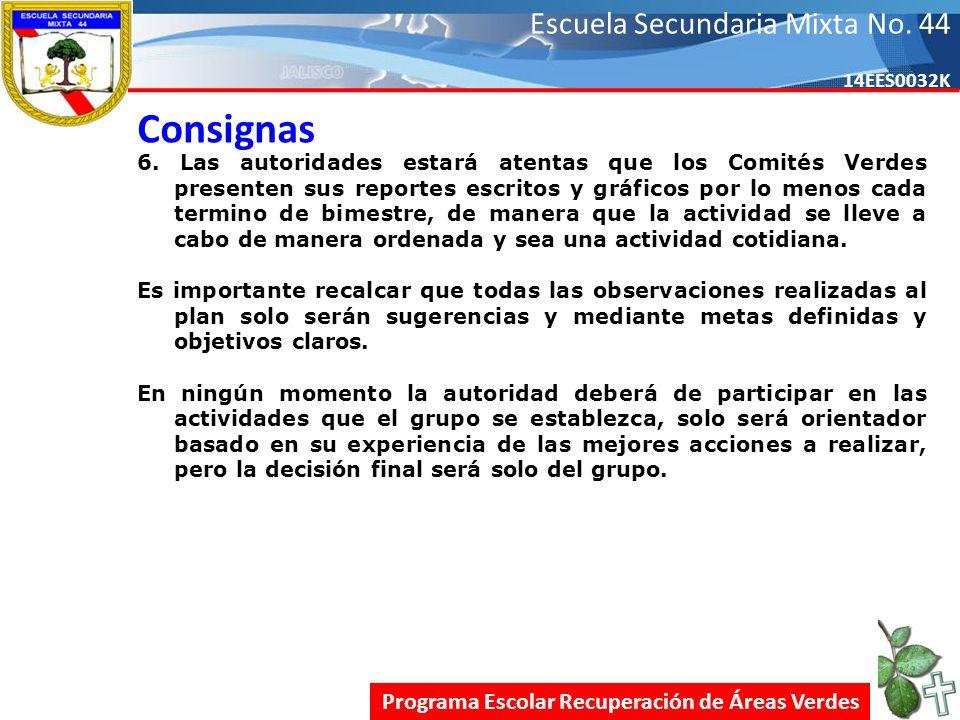 Escuela Secundaria Mixta No.44 14EES0032K Consignas 6.