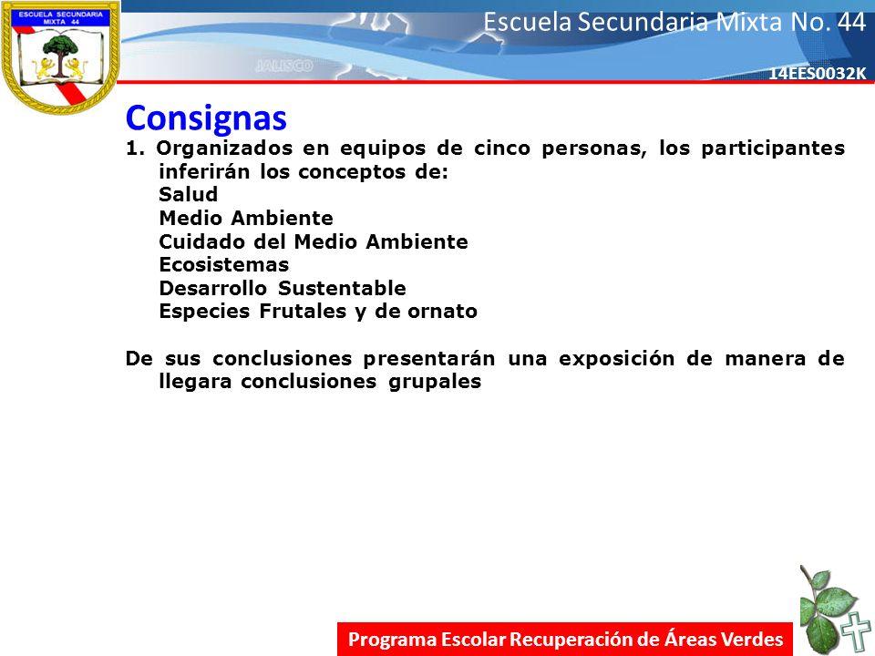 Escuela Secundaria Mixta No.44 14EES0032K Consignas 1.