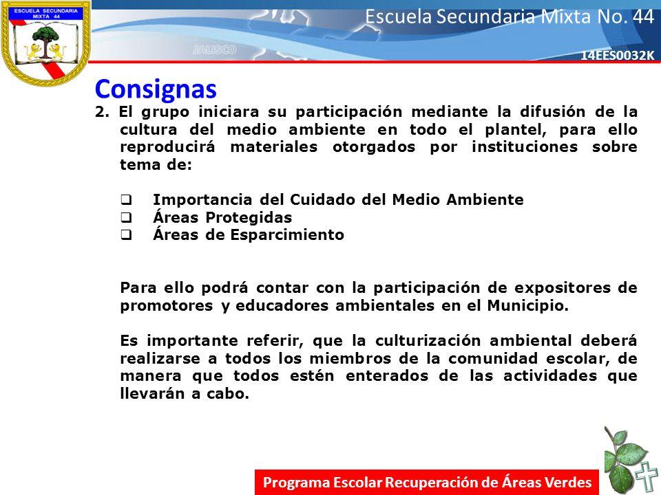 Escuela Secundaria Mixta No.44 14EES0032K Consignas 2.