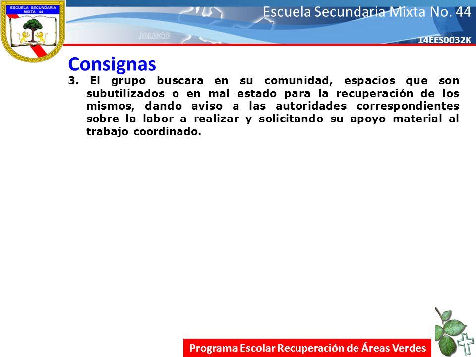 Escuela Secundaria Mixta No.44 14EES0032K Consignas 3.