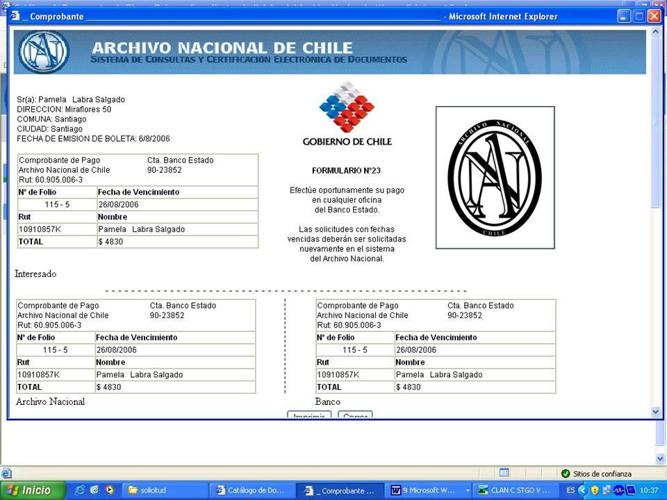 http://documentos.archivonacional.cl http://documentos.archivonacional.cl Procesamiento de solicitud pendientes, staff del Archivo
