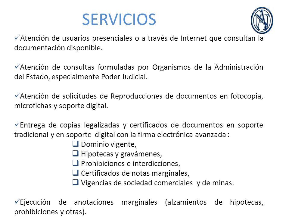 Atención de usuarios presenciales o a través de Internet que consultan la documentación disponible. Atención de consultas formuladas por Organismos de