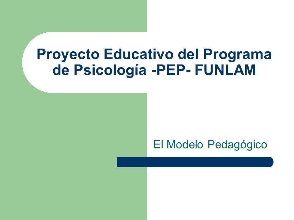 Proyecto Educativo del Programa de Psicología -PEP- FUNLAM El Modelo Pedagógico