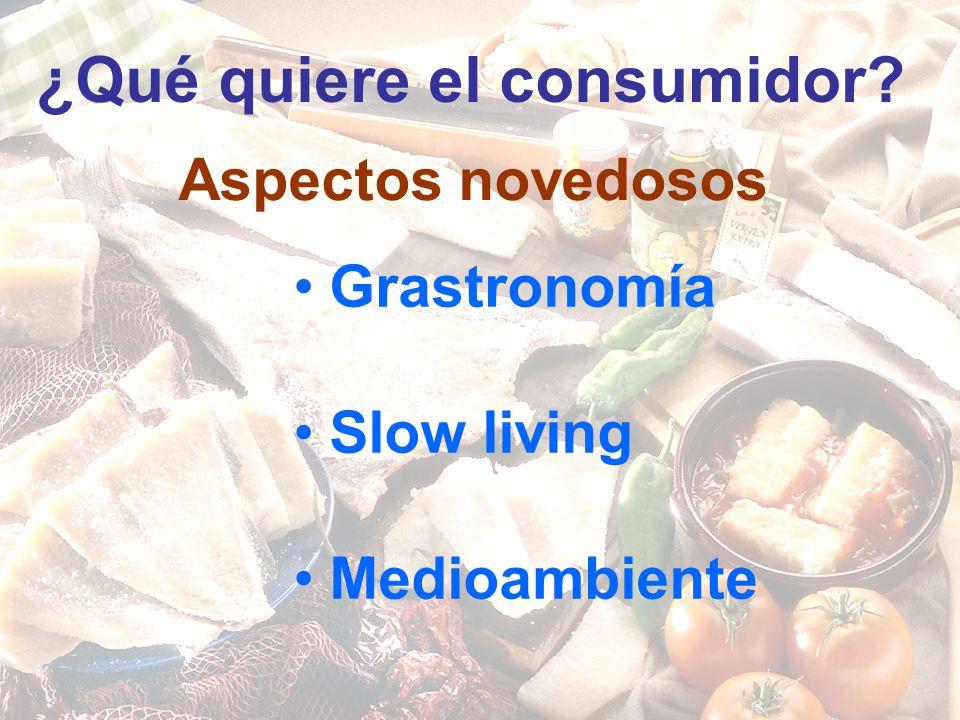 Aspectos novedosos Grastronomía Slow living Medioambiente ¿Qué quiere el consumidor
