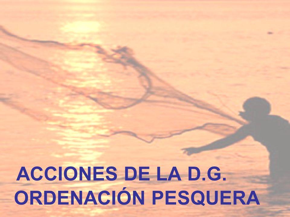 ACCIONES DE LA D.G. ORDENACIÓN PESQUERA
