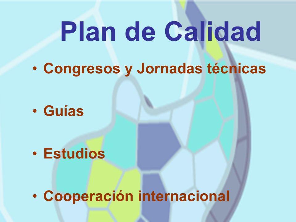 Plan de Calidad Congresos y Jornadas técnicas Guías Estudios Cooperación internacional