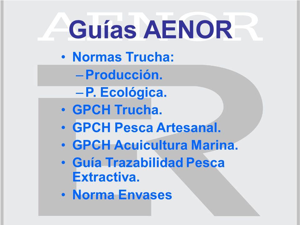 Guías AENOR Normas Trucha: –Producción. –P. Ecológica.