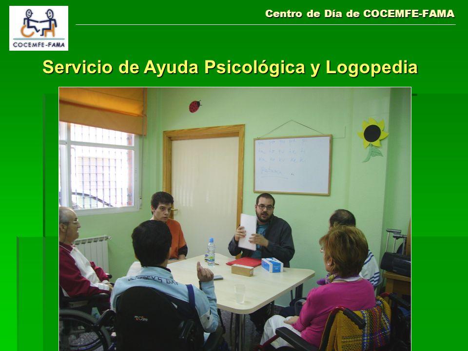 Centro de Día de COCEMFE-FAMA Servicio de Ayuda Psicológica y Logopedia