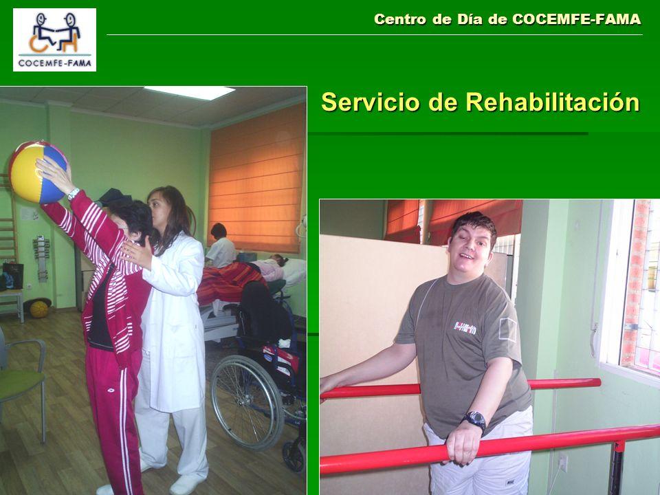 Centro de Día de COCEMFE-FAMA Servicio de Rehabilitación