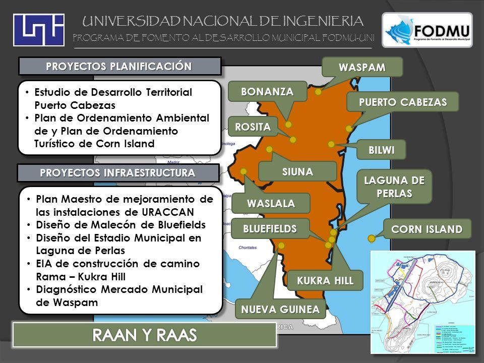 UNIVERSIDAD NACIONAL DE INGENIERIA PROGRAMA DE FOMENTO AL DESARROLLO MUNICIPAL FODMU-UNI PROYECTOS PLANIFICACIÓN PUERTO CABEZAS Estudio de Desarrollo