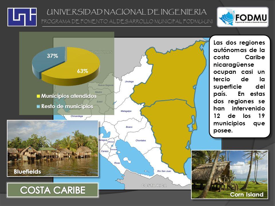 UNIVERSIDAD NACIONAL DE INGENIERIA PROGRAMA DE FOMENTO AL DESARROLLO MUNICIPAL FODMU-UNI Las dos regiones autónomas de la costa Caribe nicaragüense oc