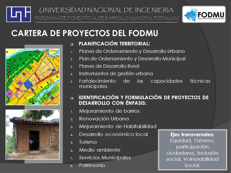 PLANIFICACIÓN TERRITORIAL : 1. Planes de Ordenamiento y Desarrollo Urbano 2. Plan de Ordenamiento y Desarrollo Municipal 3. Planes de Desarrollo Rural