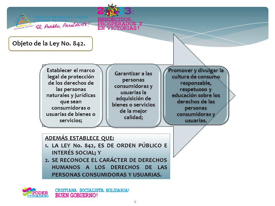 Nueva Legislación en Materia de Protección al Consumidor en Nicaragua 4 Ley No. 842. Ley de Protección de los Derechos de las Personas Consumidoras y