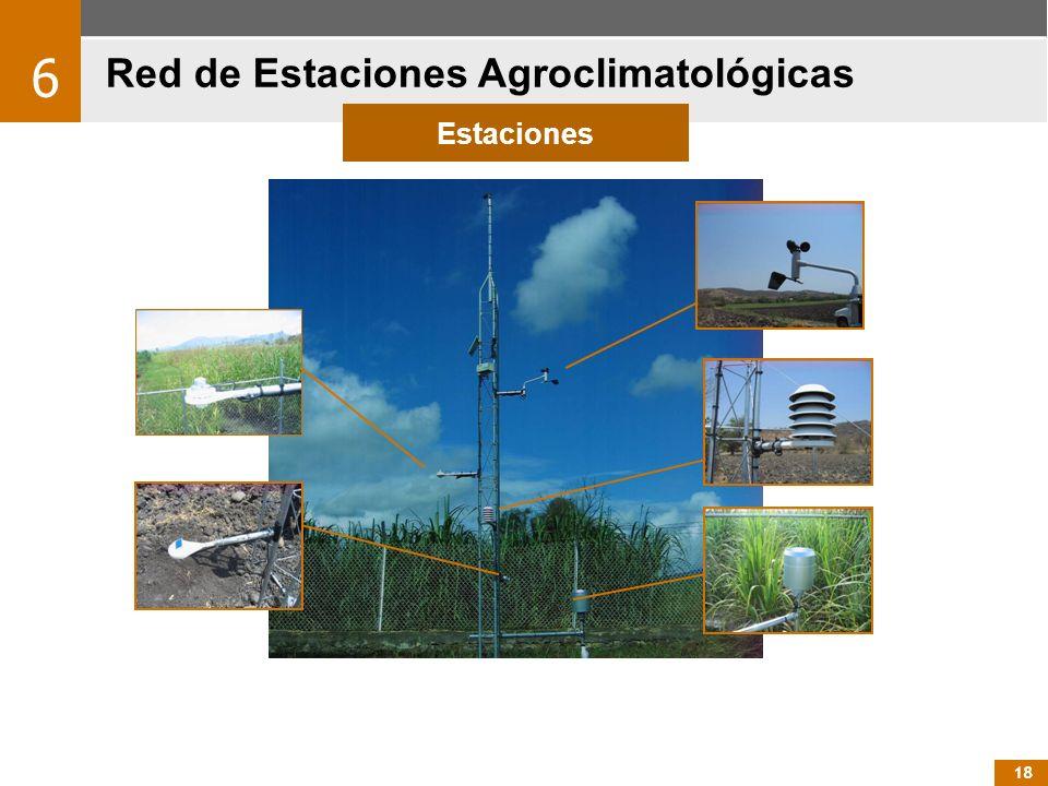 18 Red de Estaciones Agroclimatológicas 6 Estaciones