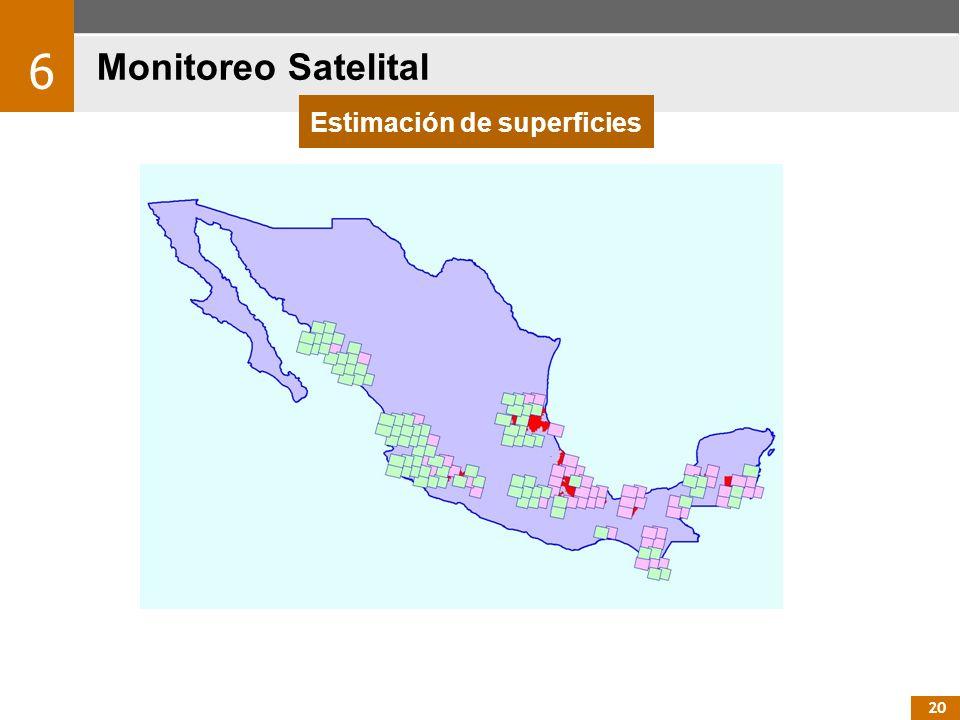 20 Monitoreo Satelital 6 Estimación de superficies